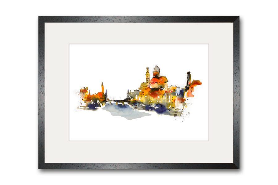 Limitierte Kunstdrucke Passau im Format 80 x 60 cm handsigniert (Art.-Nr.: 14300-4-0)