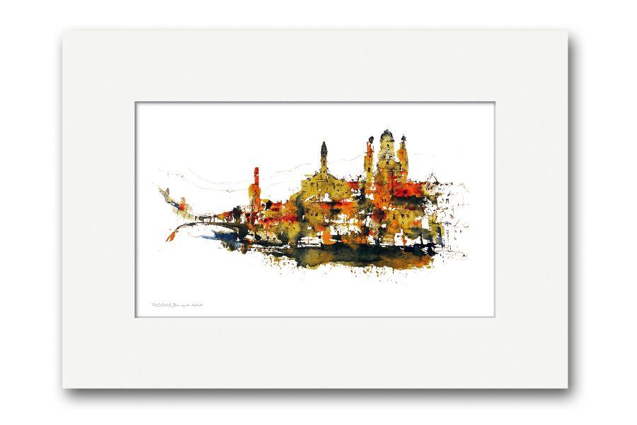 Handsignierte Kunstdrucke Passau 40x30 cm