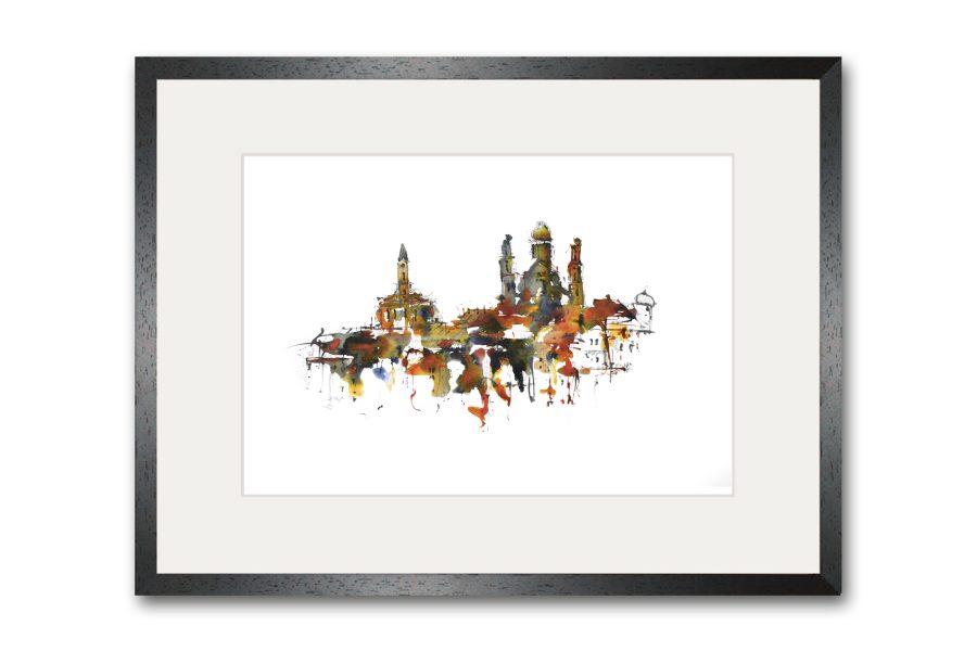Limitierte Kunstdrucke Passau im Format 80 x 60 cm handsigniert (Art.-Nr.: 14300-7-0)