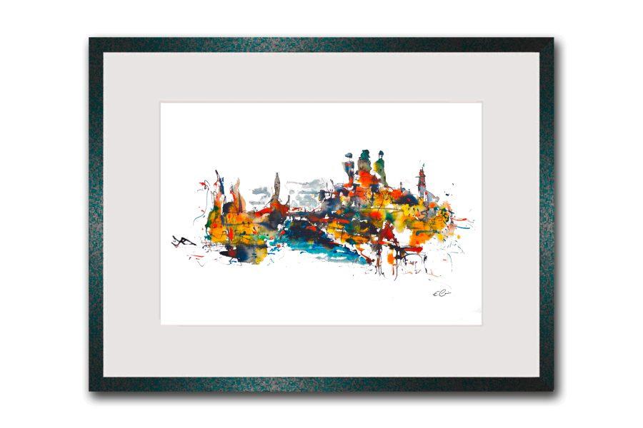 Limitierte Kunstdrucke Passau im Format 80 x 60 cm handsigniert (Art.-Nr.: 14300-11-0)