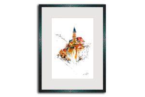 Limitierte Kunstdrucke Passau im Format 80 x 60 cm handsigniert (Art.-Nr.: 14300-12-0)