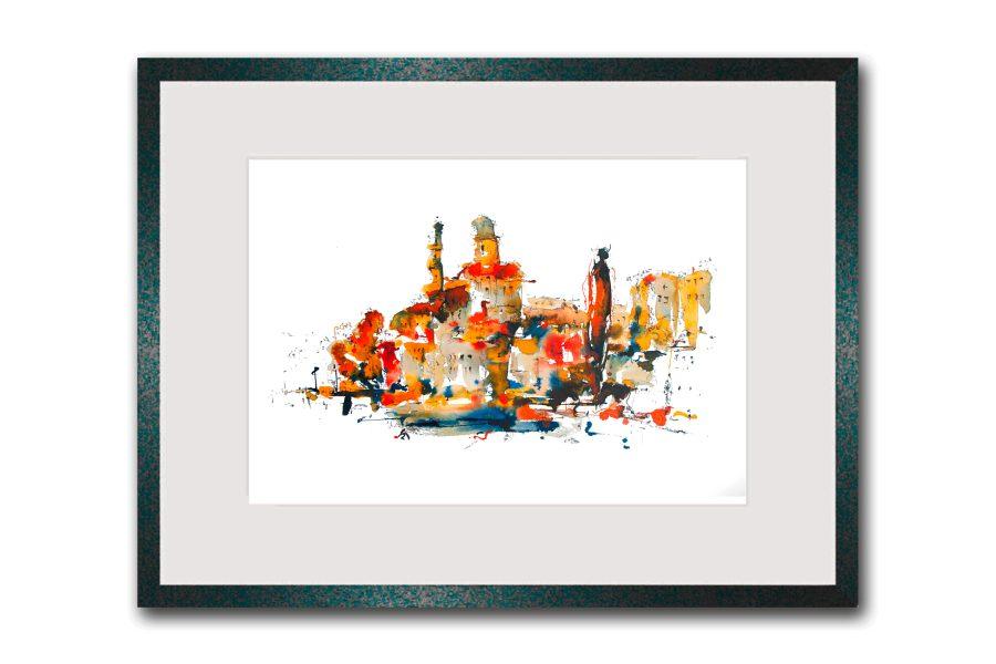 Limitierte Kunstdrucke Passau im Format 80 x 60 cm handsigniert (Art.-Nr.: 14300-9-0)