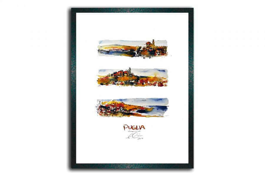 Puglia, gerahmt im Holzrahmen