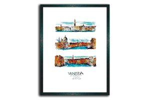 Venezia, gerahmt im Holzrahmen