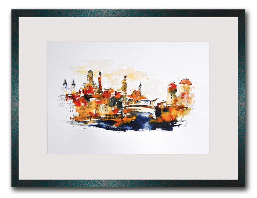 Originalkunst Passau Erik Limmer - Post Niederhaus